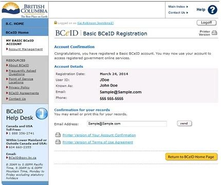 signing up for a bceid province of british columbia