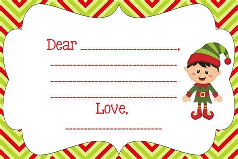 elf on the shelf printable blank notes blank note from your elf on the shelf personalize pdf