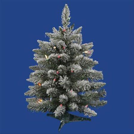 northlight 4 foot berrywood pine tree northlight 2 ft pre lit flocked sugar pine artificial tree multi lights walmart