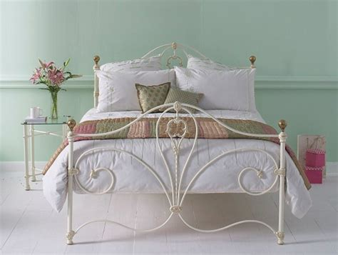 4ft metal headboards obc melrose 4ft 6 double glossy ivory metal headboard by