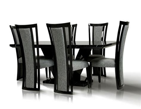Black Marble Dining Table And Chairs Black Marble Dining Table Set Foter