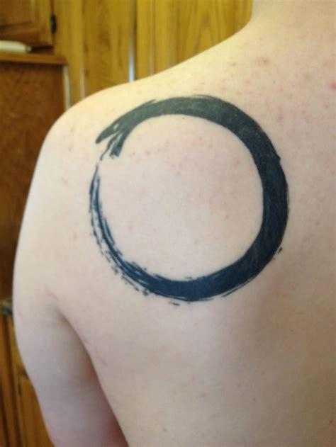 left back shoulder ouroboros tattoo by james