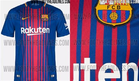 Jersey Fc Barcelona Home 2017 2018 barcelona jersey 2017 2018 16 17 home away and third kits released footballplayerpro