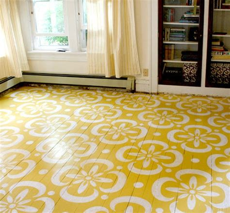 Pretty Painted Floors With Flower Designs | beautiful painting tile floors design home interiors