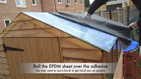 how to waterproof your shed roof with epdm