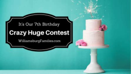 7th Birthday Giveaways - 7th birthday giveaway williamsburgfamilies com