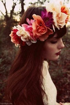 hair cut for ladies in garland floral hair pieces on pinterest flowers in hair