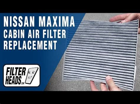 how to replace cabin air filter 2014 nissan maxima youtube