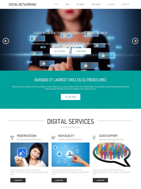 Social Networking Site Template Social Networking Website Templates Dreamtemplate Social Media Site Template