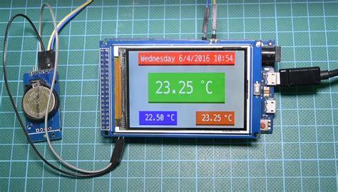 arduino real time clock  temperature monitor