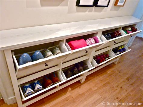 storage solutions for shoes in entryway shoe bench storage solution for family entry the wooden