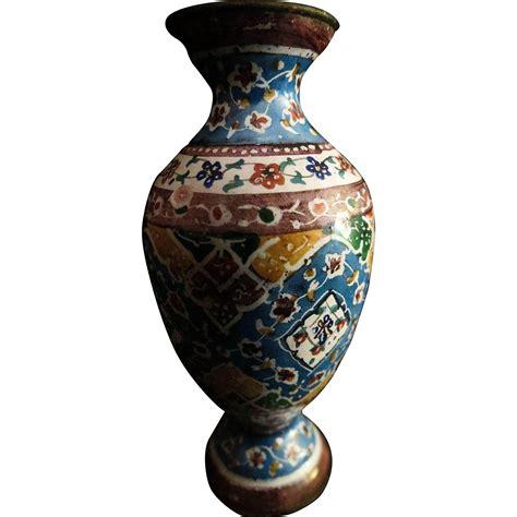 antique cloisonne doll house miniature vase