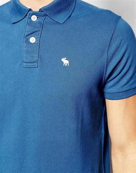 Polo Shirt Abercrombie abercrombie fitch abercrombie fitch polo shirt with logo in slim fit at asos