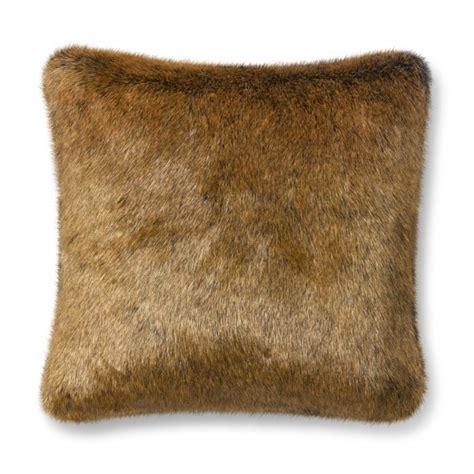 Faux Fur Pillow Cover by Faux Fur Pillow Cover Nutria Williams Sonoma