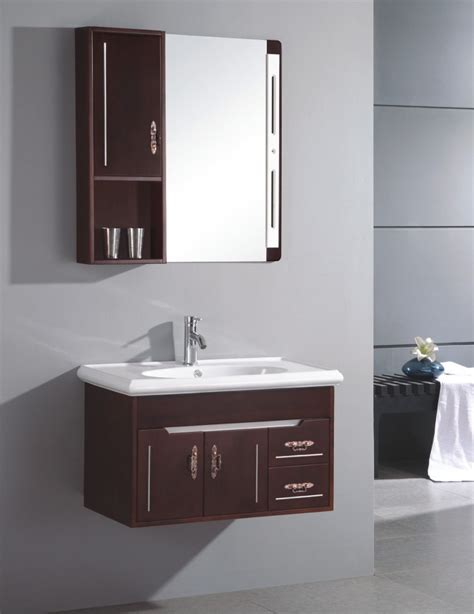 Vanity Ideas For Small Bathrooms Impressive Modern Vanity Ideas For Small Bathrooms Showcasing Wooden Hanging Bathroom Cabinet