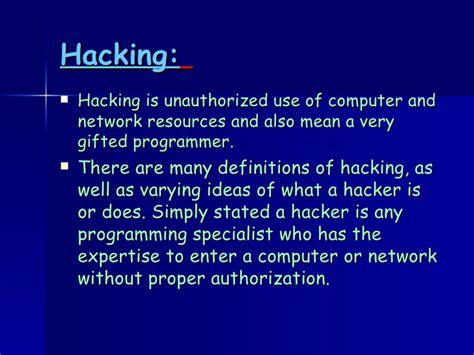 brief introduction of brief introduction of hackers