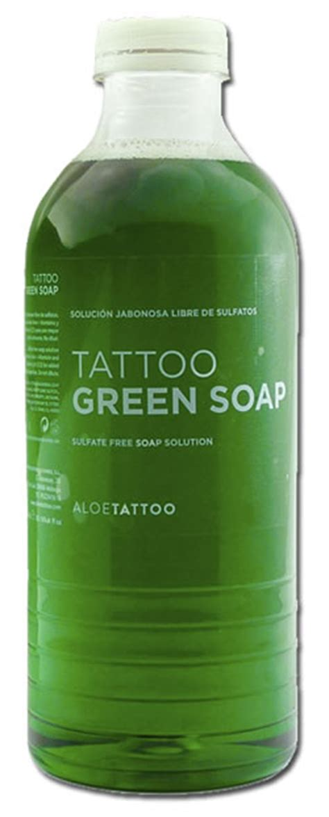 what soap to use on tattoo green soap aloetattoo