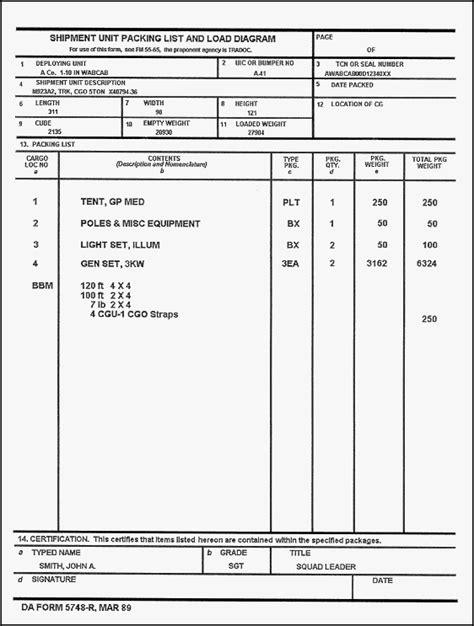 dd template army dd form 1750 pdf