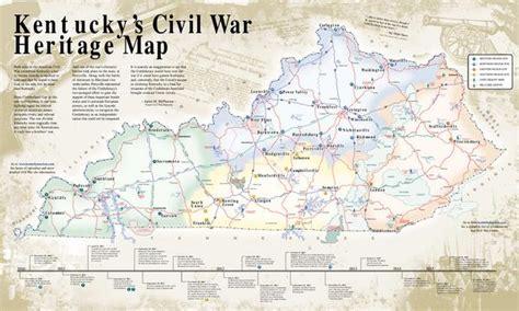 kentucky map civil war kentucky s civil war heritage map by kentucky s western