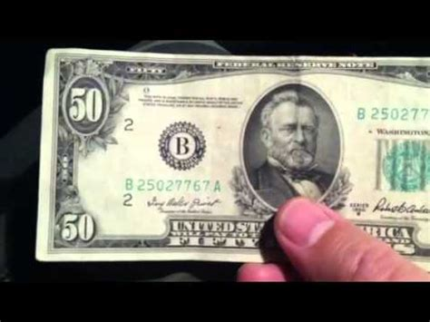 old 50$ bill looks fake youtube