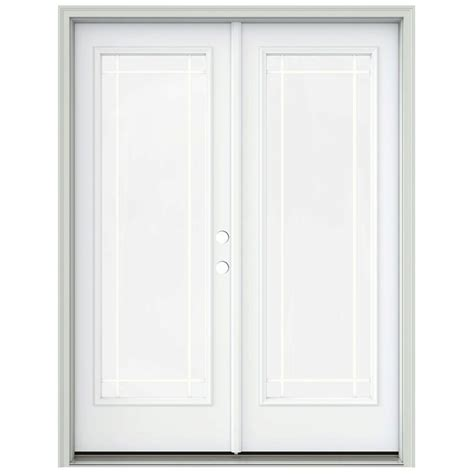 60 Patio Door Jeld Wen 60 In X 80 In Primed Prehung Right Inswing 1 Lite Patio Door With