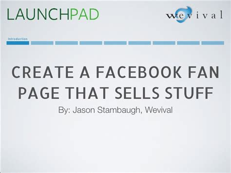 create facebook fan page create facebook fan pages that sell stuff
