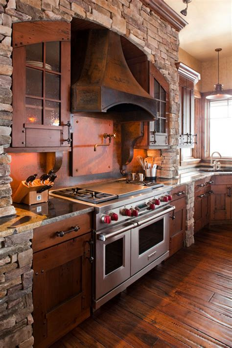 rustic style kitchen cabinets 53 sensationally rustic kitchens in mountain homes