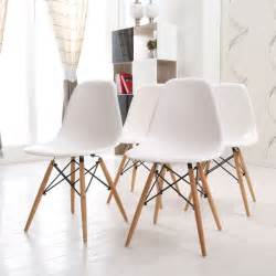 Dining Table White Legs Wooden Top Modern White Designer Dining Mdf Top Matte Wooden Leg Table 4pcs Chairs X Frame Ebay