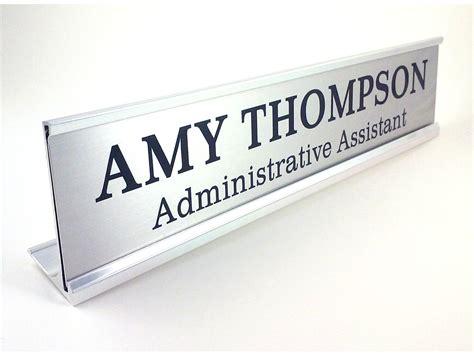 custom desk name plate card holder custom glass desk name plates home furniture decoration