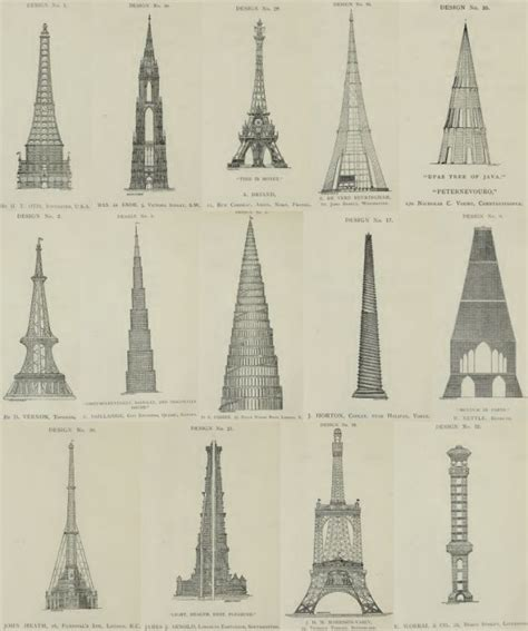 who designed the eiffel tower historic drawings reveal the landmarks that never were