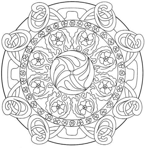 disegni astratti fiori disegno di un mandala astratto da colorare disegni da