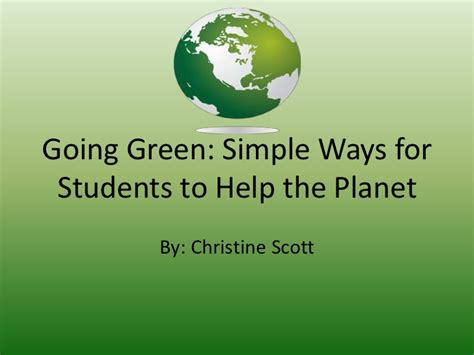 ppt 6 ways to go green at home and save money going green ppt