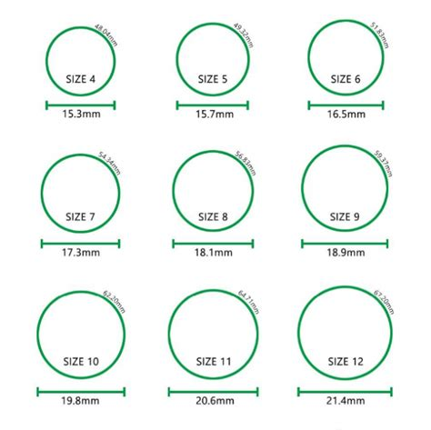 printable wedding ring size chart wedding ring size chart wedding dress collections