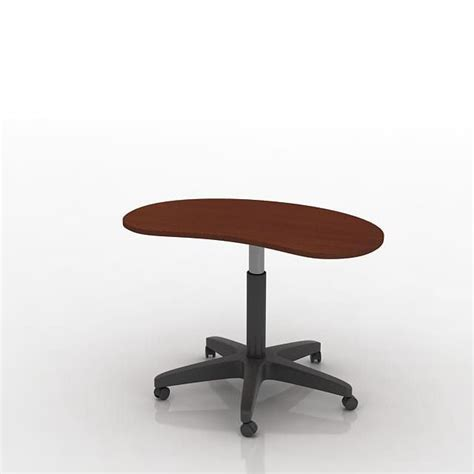 Movable Office Desks Table Movable Office Desk 3d Model Obj Cgtrader