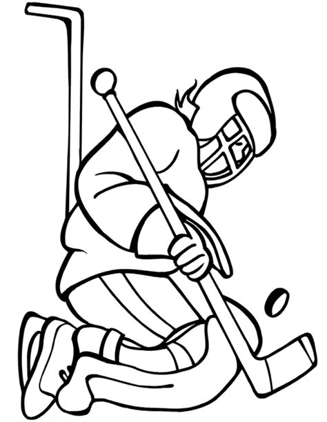 free coloring pages of hockey