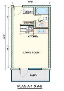 efficiency apartment house plans arts
