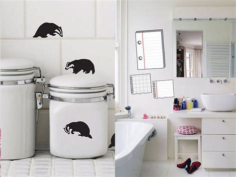 badgers bathrooms funny kids wall stickers inspirations 2012 interior