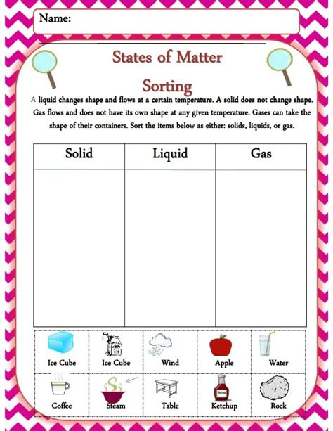 States Of Matter Worksheet by Matter Worksheets For Kindergarten What S The Matter 1
