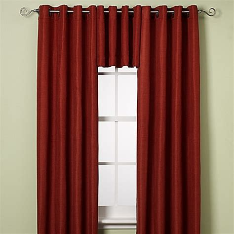 grommet valance curtains reina grommet window curtain panel and valance bed bath