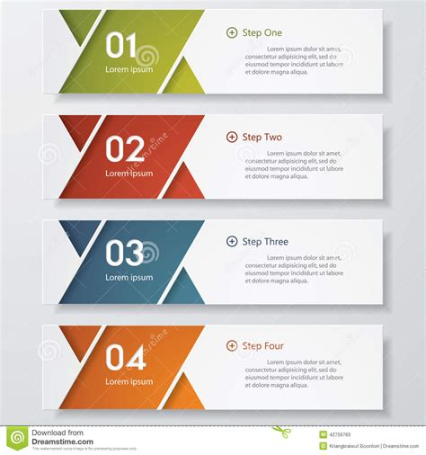 graphic design image layout design clean number banners template stock vector