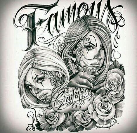 cartoon tattoo los angeles chicano arte sleeve tattoos pinterest chicano