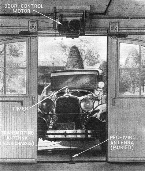 Garage Door Opener History The New Radio Garage Door Opener September 1933 Radio