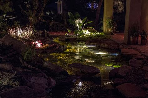 Pond Lighting by Led Underwater Pond Water Feature Lighting Services