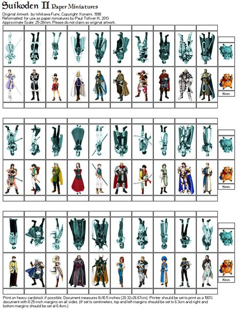 printable paper miniatures d d suikoden ii paper minis page 1 by crimsonguard477 on