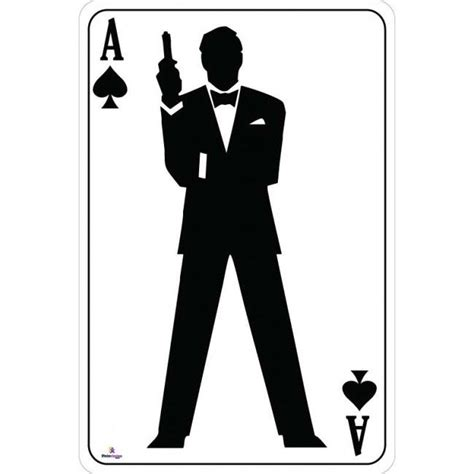 james bond silhouette ace of spades bond silhouette playing card cutout