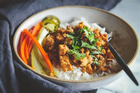 ground turkey and rice recipes easy asian ground turkey and rice bowls recipe sweetphi