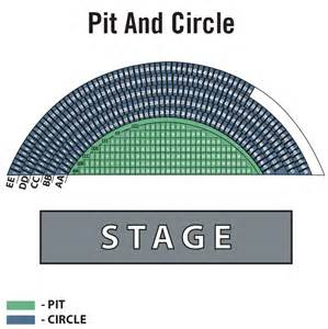 pit seating pacific hitheater pit and circle
