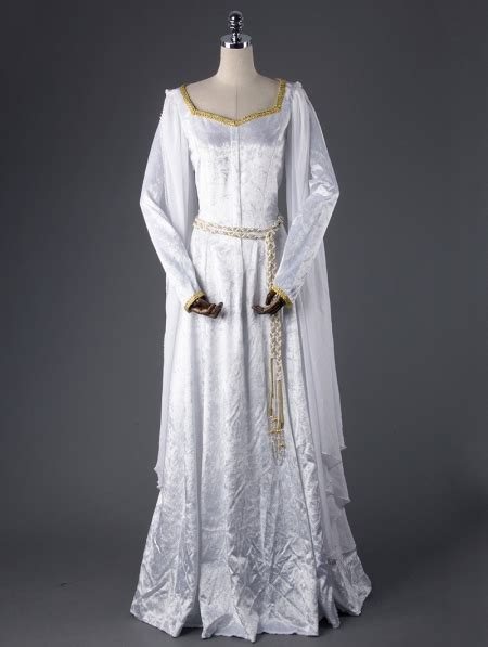 white elegant vintage medieval dress devilnightcouk