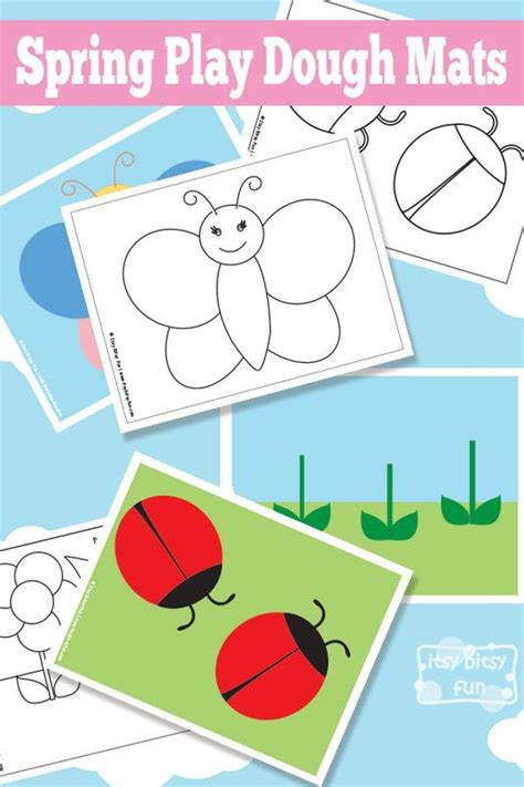 spring printable playdough mats play dough mats play dough and plays on pinterest