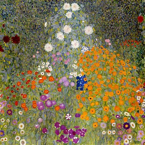 giardini di fiori giardino di fiori quadro di gustav klimt riproduzione